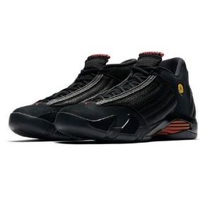 Mens Air Jordan 14 Retro 487471-003 Black/Varsity